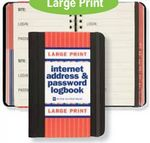 Custom Large Print Personal Internet Address & Password Logbook