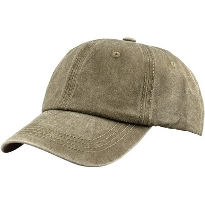 Unstructured Pigment Dyed Twill Cap