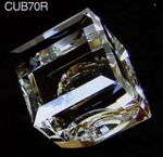 Custom Optic Crystal Dome Cube Paperweight (2 3/4