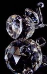 Custom Optic Crystal Elephant Figurine