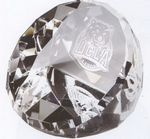 Custom Optical Crystal Standing Faceted Dome Paperweight
