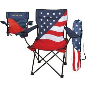 Patriotic Captain Folding Chair