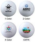 Custom 12 Pack White Golf Balls