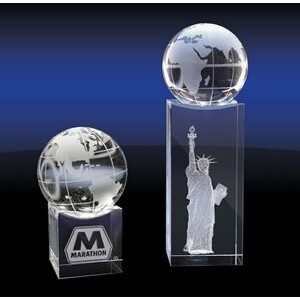 Crystal Globe on Base (Medium)