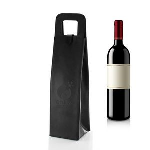 Balsamo Bonded Leather Wine Bottle Tote Bag
