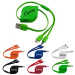 Custom 2-in-1 Retractable Noodle Cable (Factory Direct)