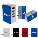 Custom UL 4 Port USB Folding Wall Charger