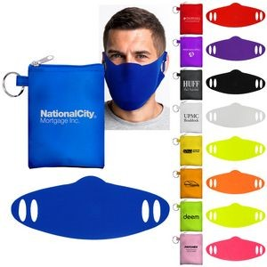 Tall Stretchy Face Mask Pouch
