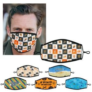 Lined Full Color Fabric Face Mask