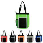 Custom Wave Zipper Lunch Tote Bag (Blank)