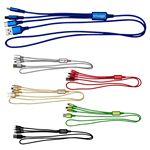 Custom 3' Metallic 3-in-1 Cable with Type C USB