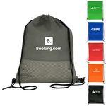 Custom Wave Drawstring Backpack