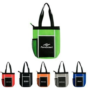 Wave Zipper Lunch Tote Bag