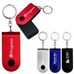 Custom UL Swivel Power Bank Keychain