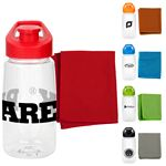 Custom Sport Cloth and Bottle Fitness Set