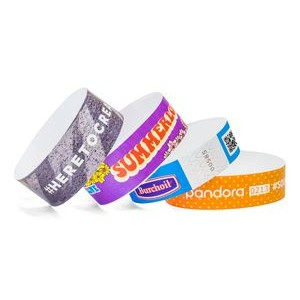 "1"" Tyvek Full Color Imprint Custom Wristbands"