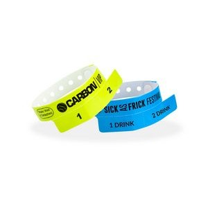 Custom Vinyl Cash Tag 2-Tab Wristband