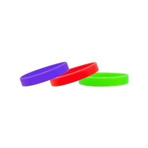 "Stock 1/2"" Solid Color Silicone Wristband"