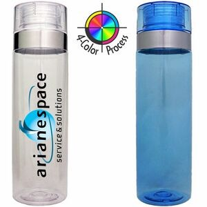 27 Oz. Ice Blue Cylinder Vortex Hydration Water Bottle (4 Color Process)