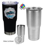 Custom 22 oz Stainless Double Wall Pro 32 Vacuum Tumbler with Lid (4 Color Process)
