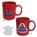 Custom Red 11 oz Vanish-Ink Mug