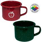 Custom 4 oz Green Speckled Enameled Steel Espresso Cup