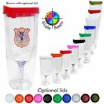Custom 14 Oz. Vino2GO 2 Acrylic Wine Glass Tumbler - 4 Color Process