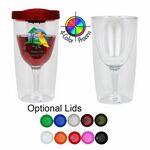 Custom 10 Oz. Vino2GO Acrylic Wine Glass Tumbler - 4 Color Process