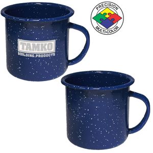 12 oz Blue Speckled Enameled Steel Cup