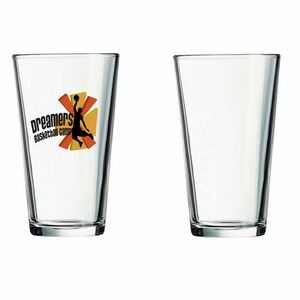 16 Oz. Clear Pint Mixing Glass (Screen Printed)