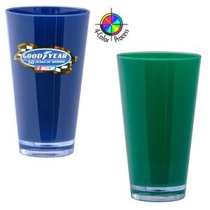 16 Oz. Green Acrylic Pint Mixing Glass with Clear base 4 Color Process