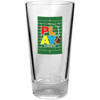 16 Oz. Embossed Golf Ball Pint Glass (4 Color Process)