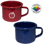 Custom 4 oz Blue Speckled Enameled Steel Espresso Cup