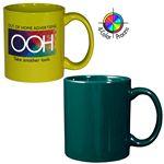 Custom 11 Oz. Green Stoneware Mug - 4 Color Process