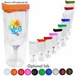 Custom 14 Oz. Vino2GO 2 Acrylic Wine Glass Tumbler - Screen Printed