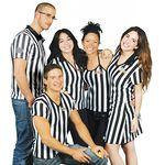 Custom Woman's Referee T-Shirt, V Neck, CottonFeel
