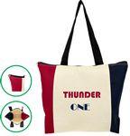 Custom Tri-Color Premium Zipper Tote Bag