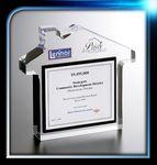 Custom House Shape Custom Lucite Award (5 3/4
