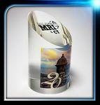 Custom Slanted Top Lucite Cylinder Award (3