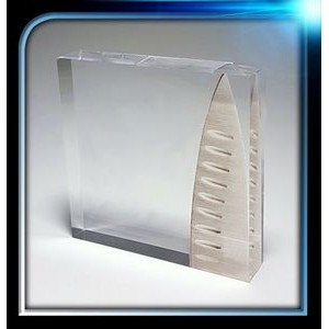 "Corporate Series Acrylic Square Paperweight (3 1/4""x3 1/4""x3/4"")"