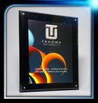 Custom Black Background Acrylic Entrapment Plaque (8