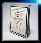 Custom Lucite Easel Award (5