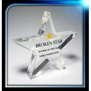 "Executive Series Star Paperweight (4""x4""x3/4"")"