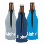 Custom Zipper Bottle Coolie Bottle Cover - 3 3/4