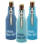 Custom Kolder Bottle Suit Neoprene Bottle Cover w/ Zipper (4 Color Process)