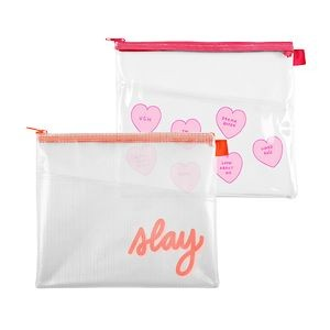 Continued Dollface Peek-a-boo Pouch (Clear + Grid Vinyl)