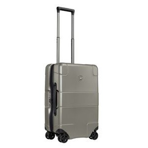 Swiss Army Lexicon 8 Wheel Hardside Global Carry-On Luggage Titanium with USB Port