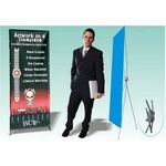 Custom Promo Banner X-Stand - 1 Sided (24