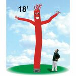 Custom 18' Tall Tube Guy Dancer Inflatable Promotional Balloon / Red