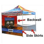 Custom Back Wall for Brand Pop Up Portable Outdoor Canopy Tent